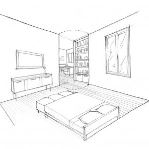 Croquis chambre 1